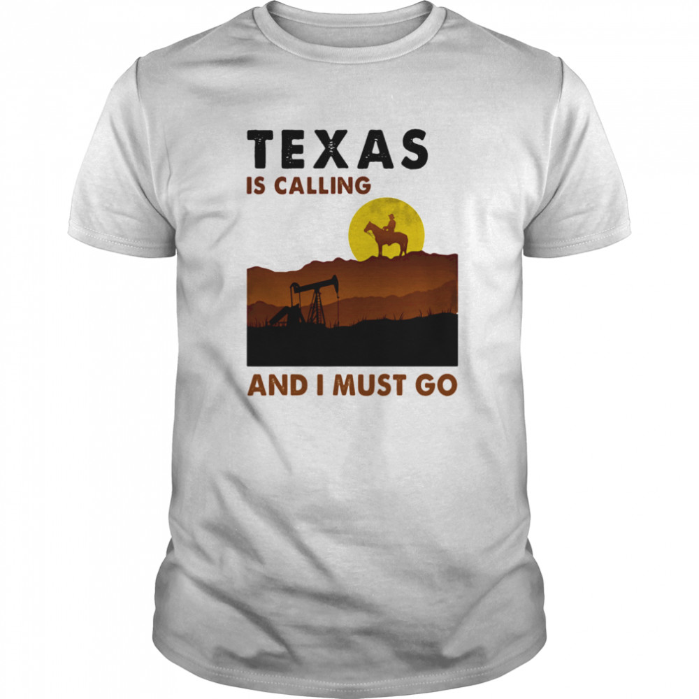 Horse texas is calling and i must go  Classic Men's T-shirt