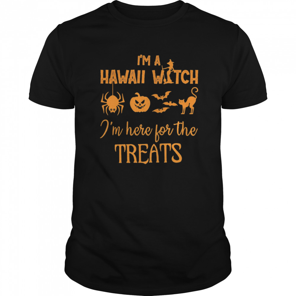 I'm a hawaii witch i'm here for the treats halloween  Classic Men's T-shirt