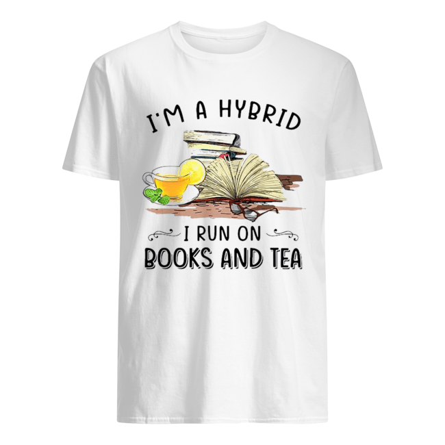 I'm A Hybrid I Run On Books And  Classic Men's T-shirt