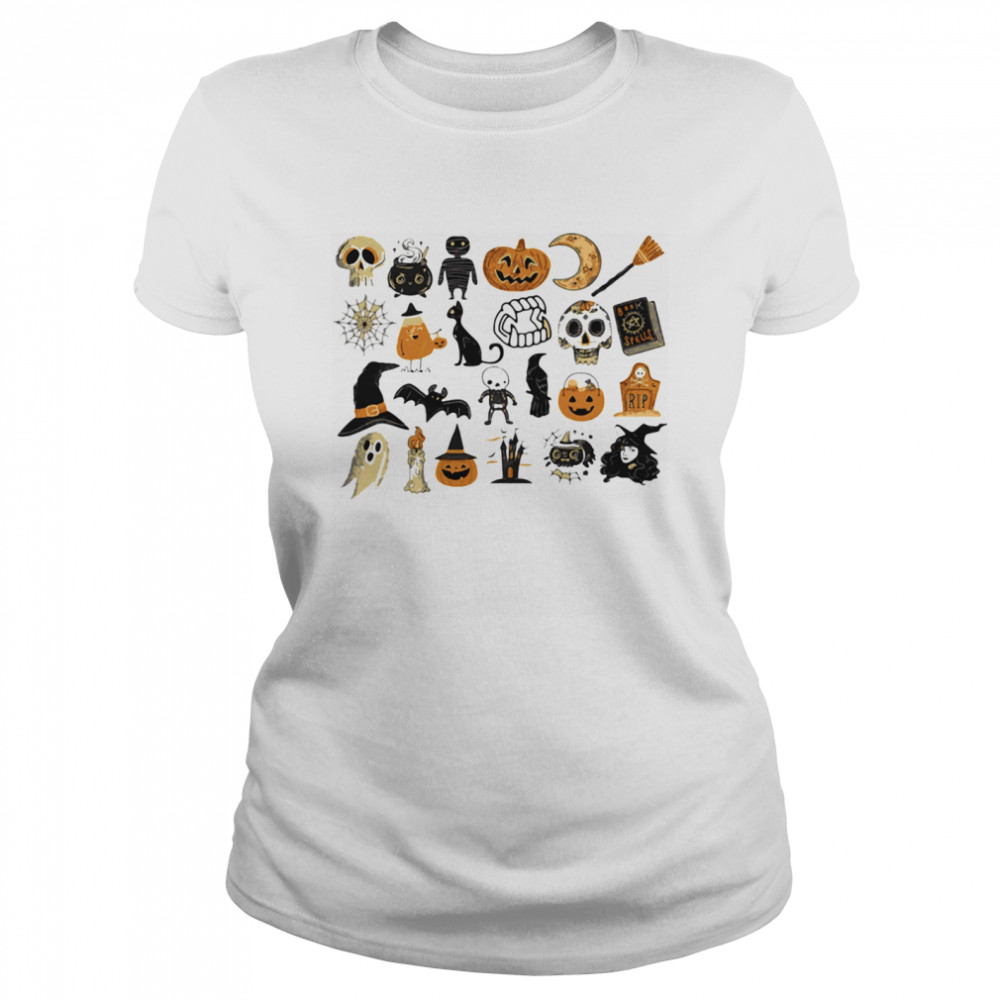 It's The Little Things Happy Halloween  Classic Women's T-shirt