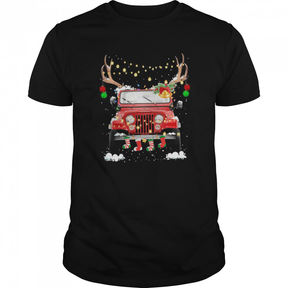 Jeep Light Christmas  Classic Men's T-shirt