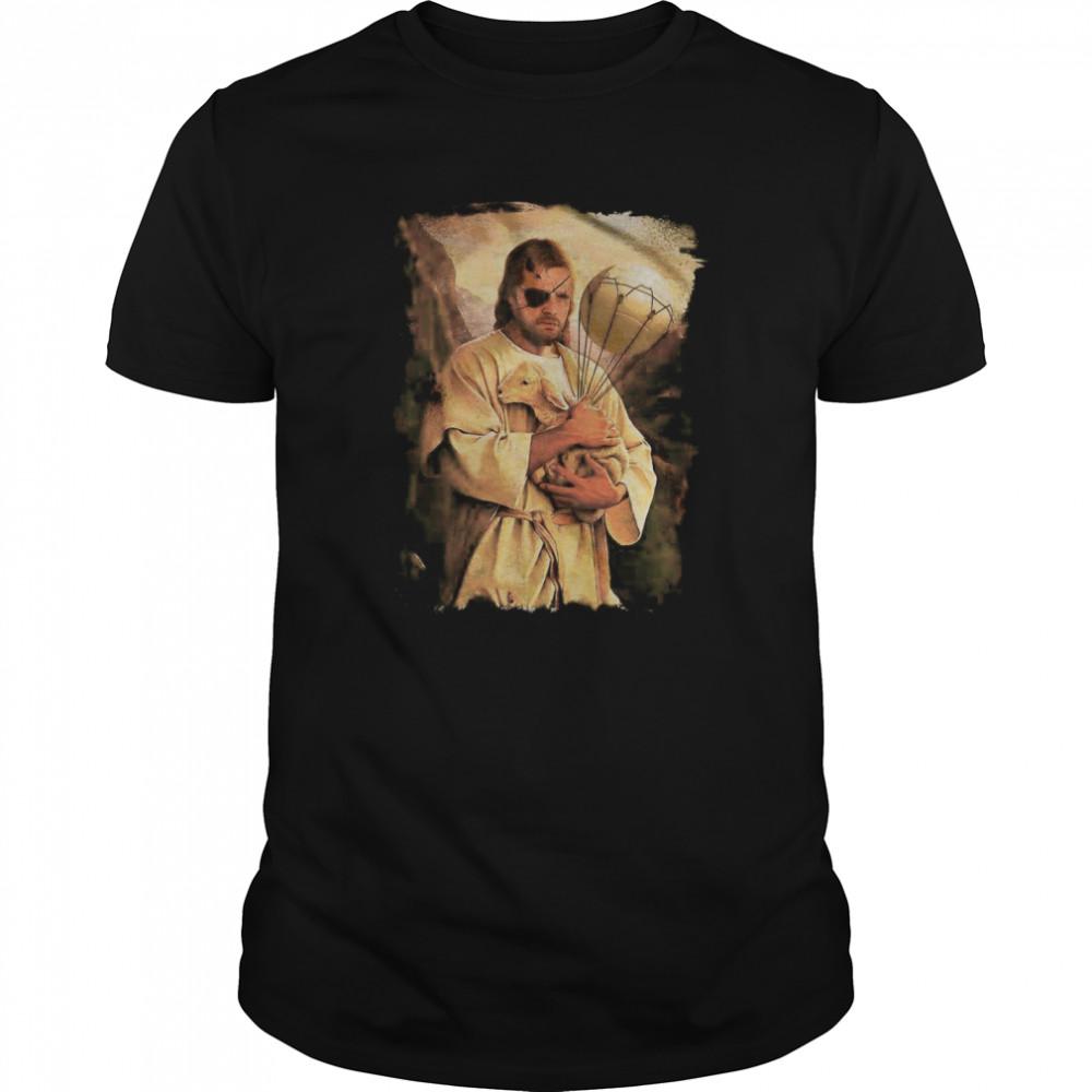 Jesus Hug Sheep  Classic Men's T-shirt