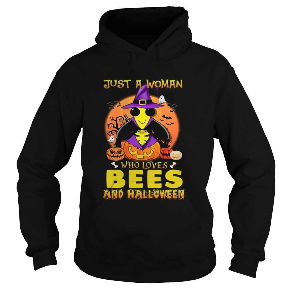 Just A Woman Who Loves Bees And Halloween  Hoodie