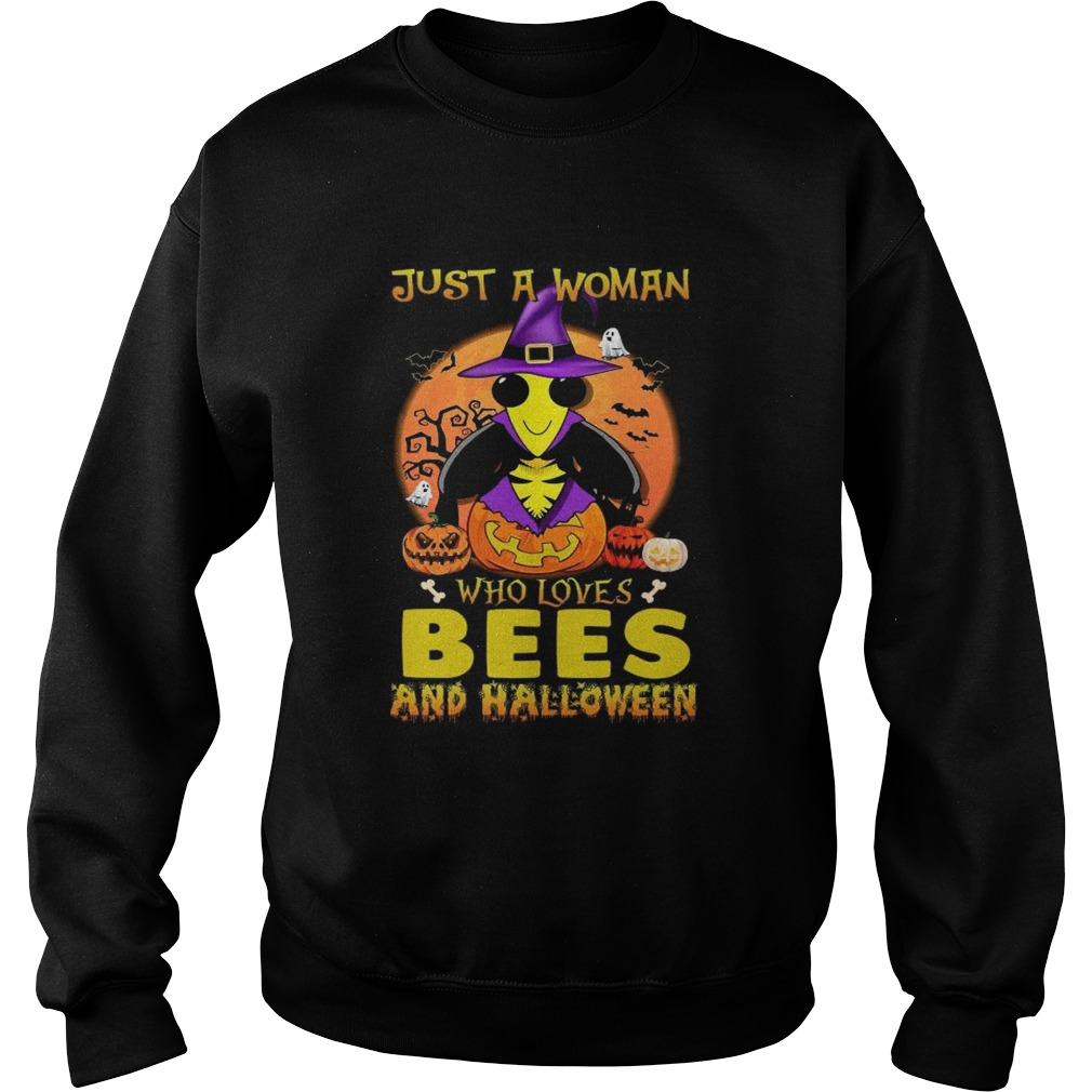 Just A Woman Who Loves Bees And Halloween  Sweatshirt