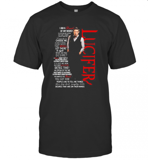 Lucifer Tom Ellis I'M A Devil Of My World T-Shirt Classic Men's T-shirt