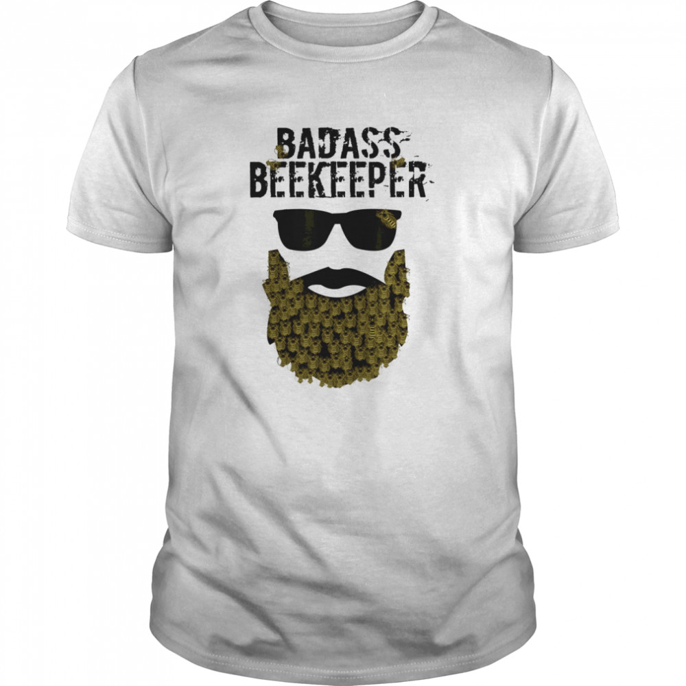 Mens Funny Beard Beekeeper Beekeeping  Classic Men's T-shirt