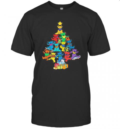 Merry Christmas Tree Bears Color T-Shirt Classic Men's T-shirt