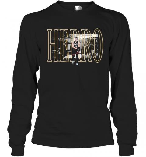 Miami Heat 14 Tyler Herro T-Shirt Long Sleeved T-shirt