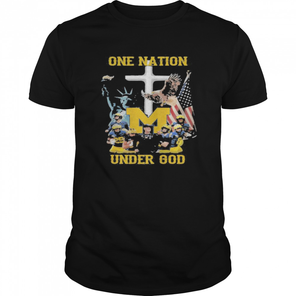 Michigan wolverines one nation under god  Classic Men's T-shirt