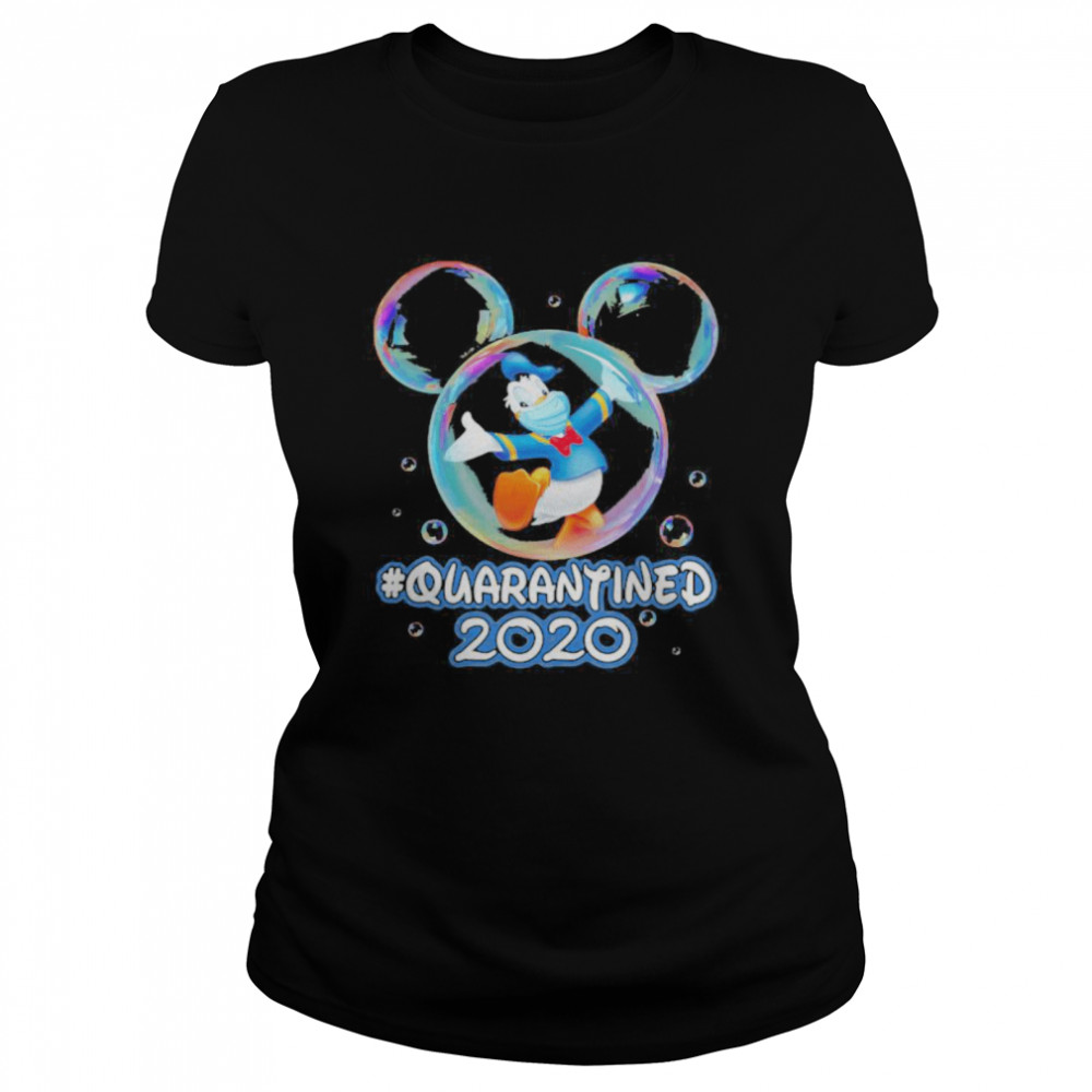 Mickey mouse donald duck wear mask quarantined 2020  Classic Women's T-shirt