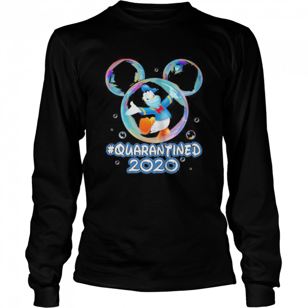 Mickey mouse donald duck wear mask quarantined 2020  Long Sleeved T-shirt