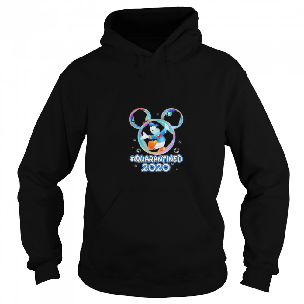 Mickey mouse donald duck wear mask quarantined 2020  Unisex Hoodie