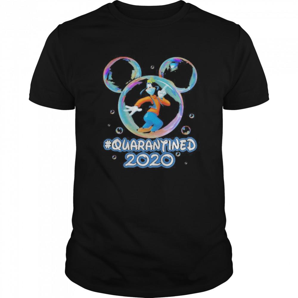 Mickey mouse goofy wear mask quarantined 2020  Classic Men's T-shirt