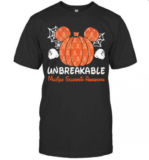 Mickey Mouse Pumpkin Unbreakable Multiple Sclerosis Awareness T-Shirt Classic Men's T-shirt