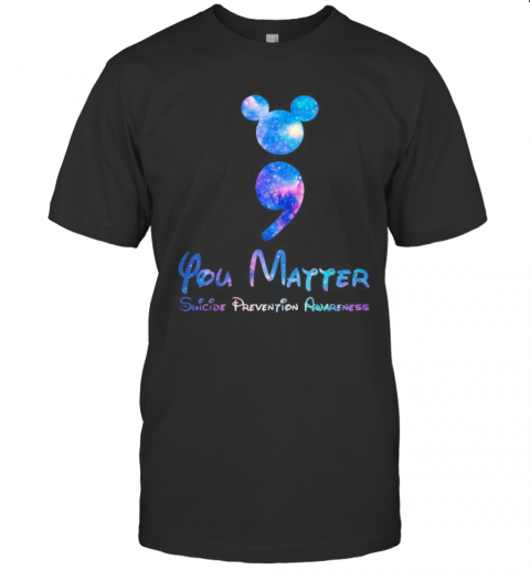 Mickey Mouse You Matter Suicide Prevention Awareness T-Shirt Classic Men's T-shirt