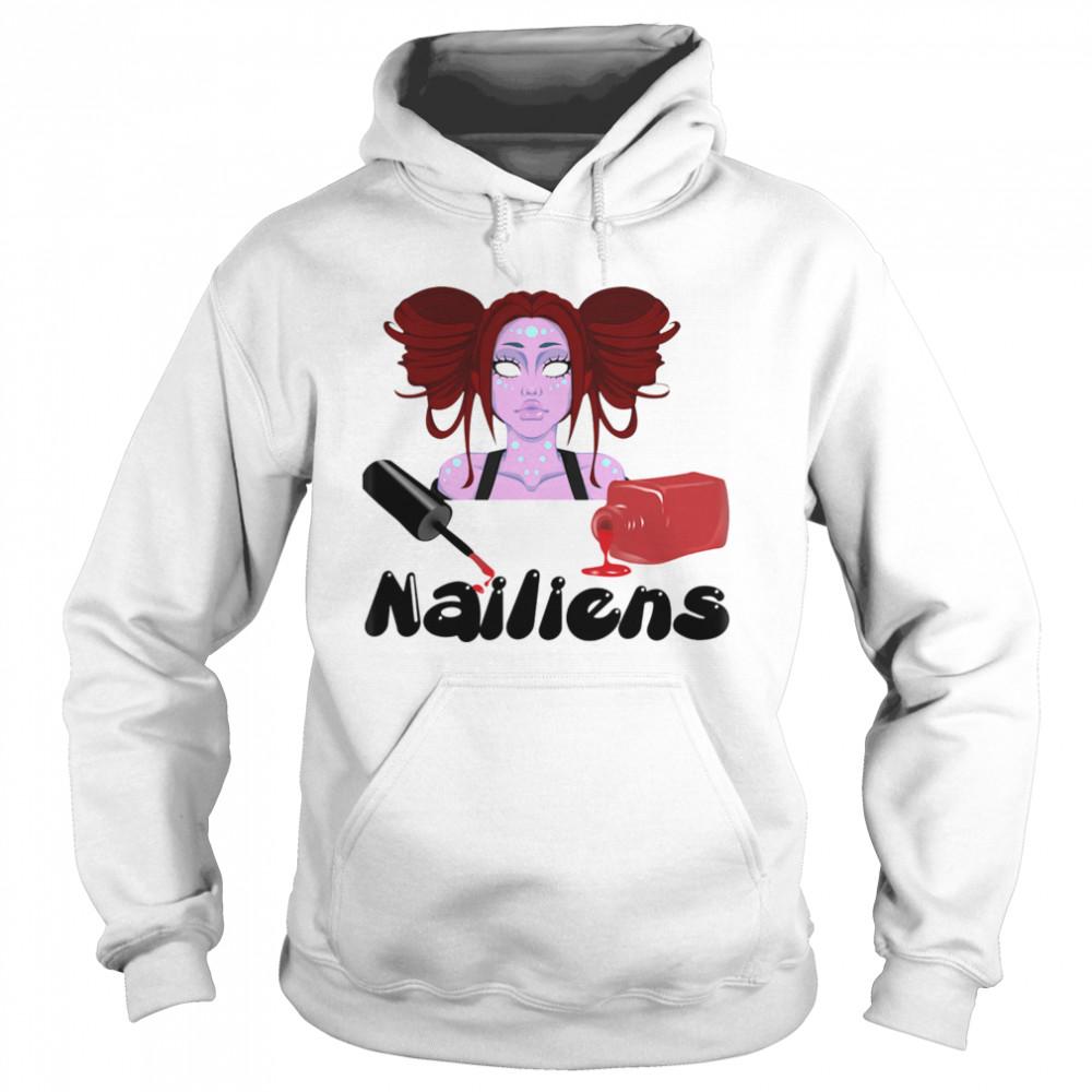 Nailiens girl happy halloween  Unisex Hoodie