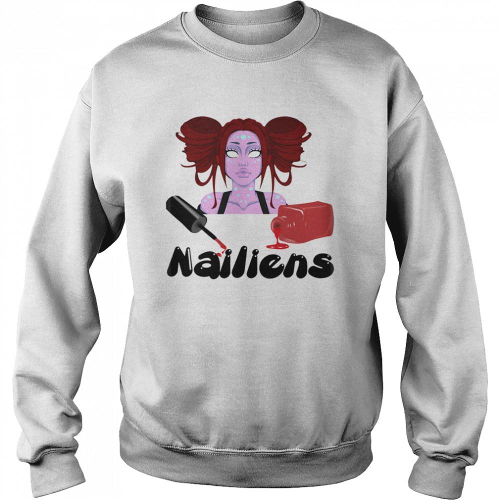 Nailiens girl happy halloween  Unisex Sweatshirt