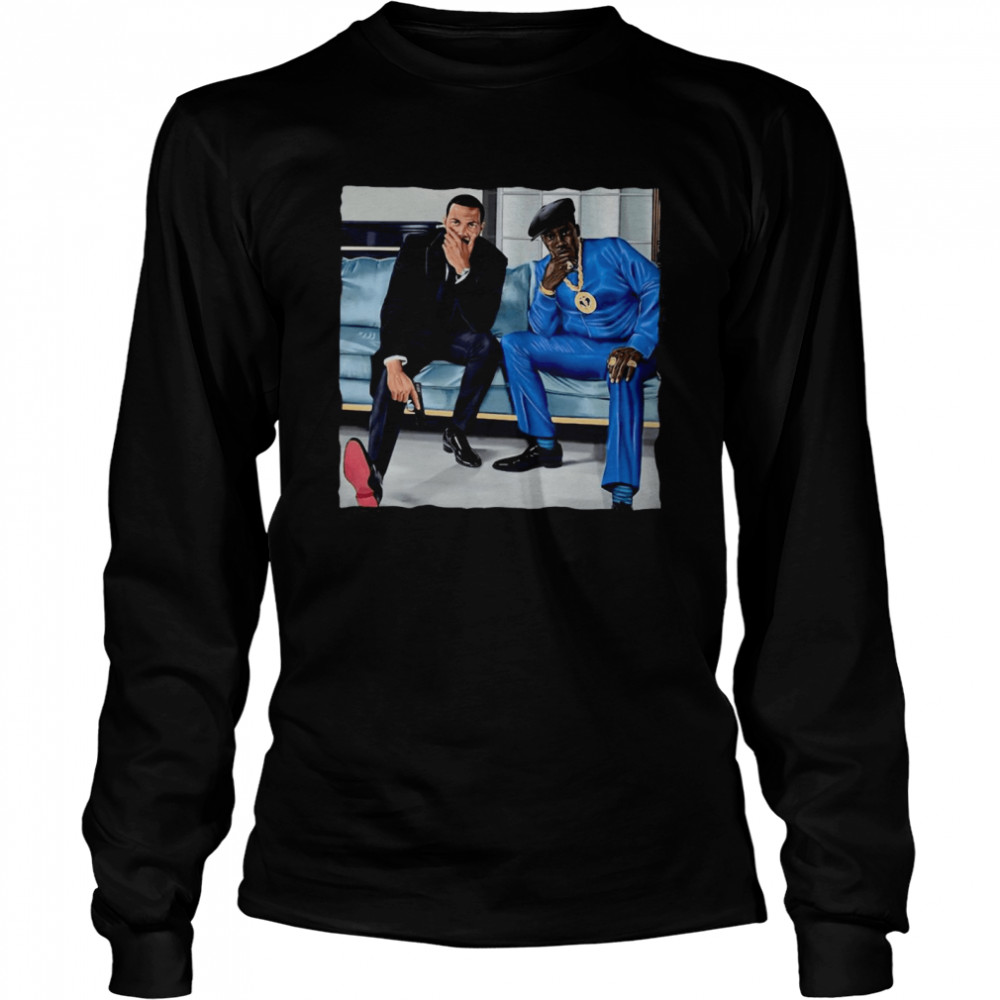 Nino Brown And Ghost  Long Sleeved T-shirt