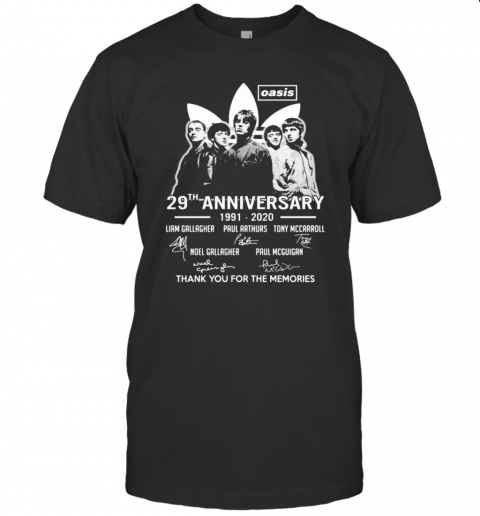 Oasis 29Th Anniversary 1991 2020 Thank For The Memories Signatures T-Shirt Classic Men's T-shirt
