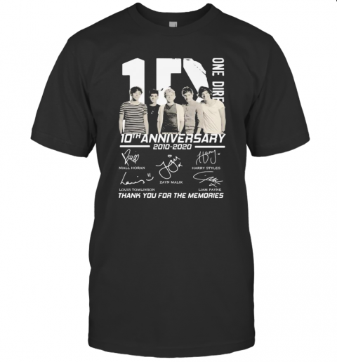 One Direction 10Th Anniversary 2010 2020 Thank For The Memories Signatures T-Shirt Classic Men's T-shirt