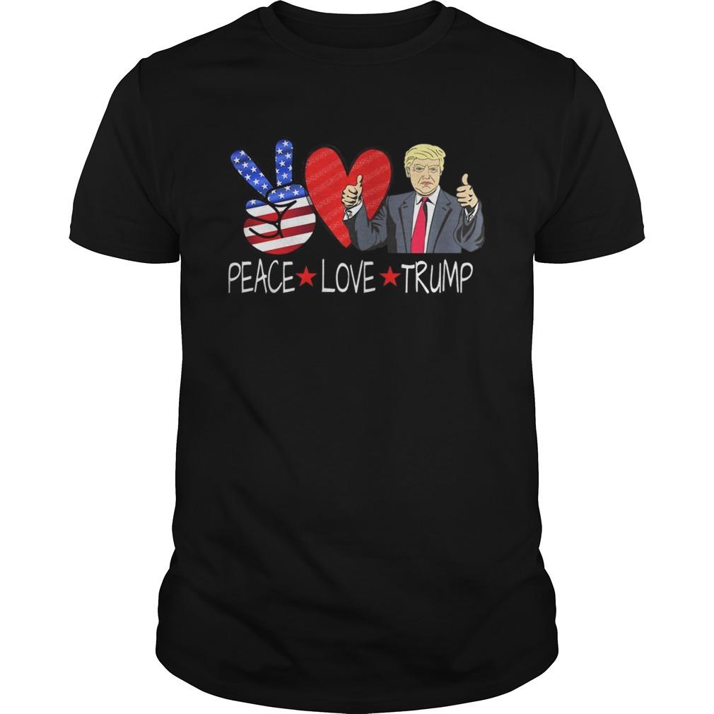 PEACE LOVE TRUMP 2020 Election Peace Sign Heart Conservative Premium  Unisex