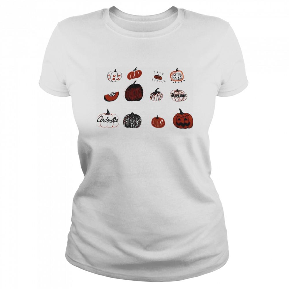 Pumpkin Halloween Gardening  Classic Women's T-shirt