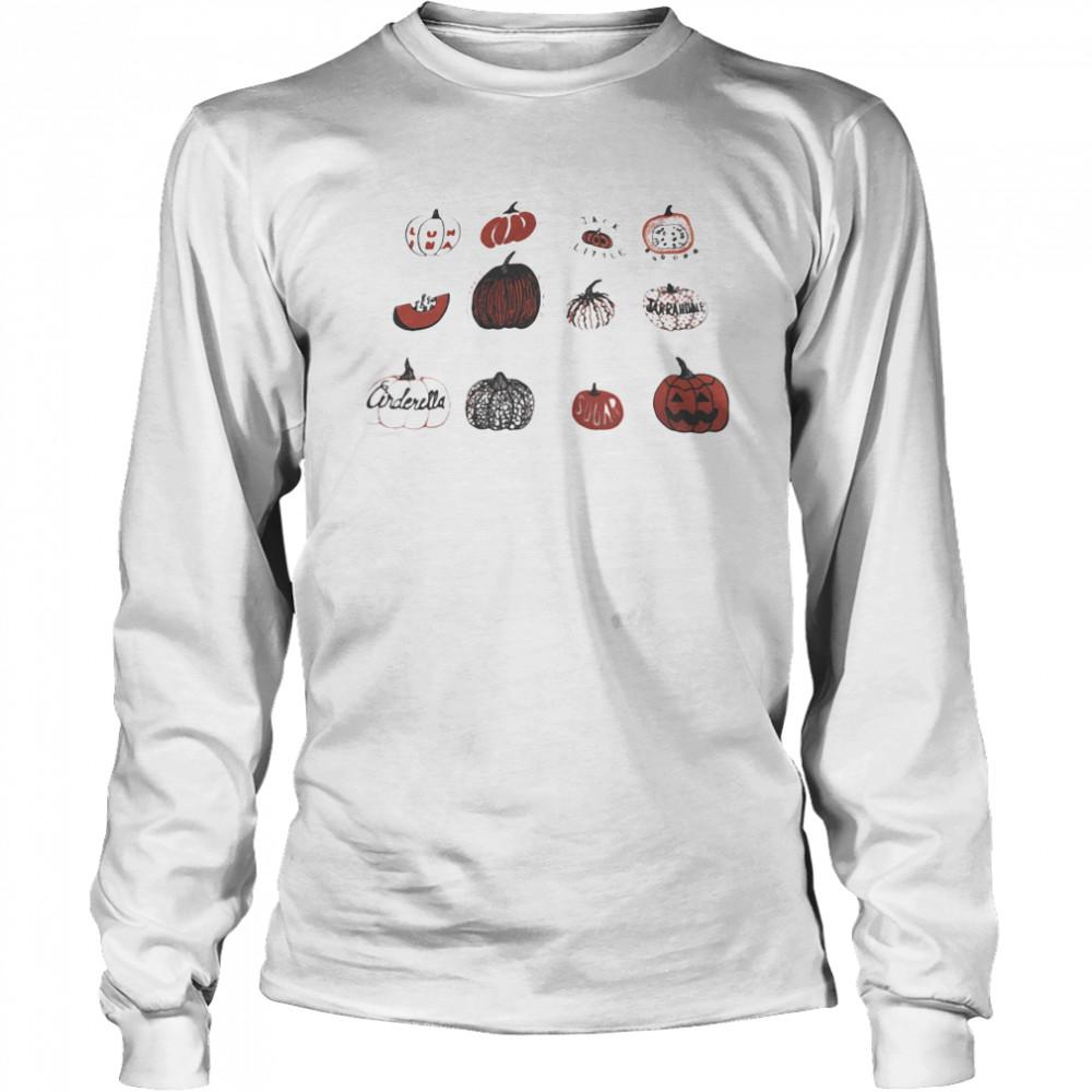 Pumpkin Halloween Gardening  Long Sleeved T-shirt
