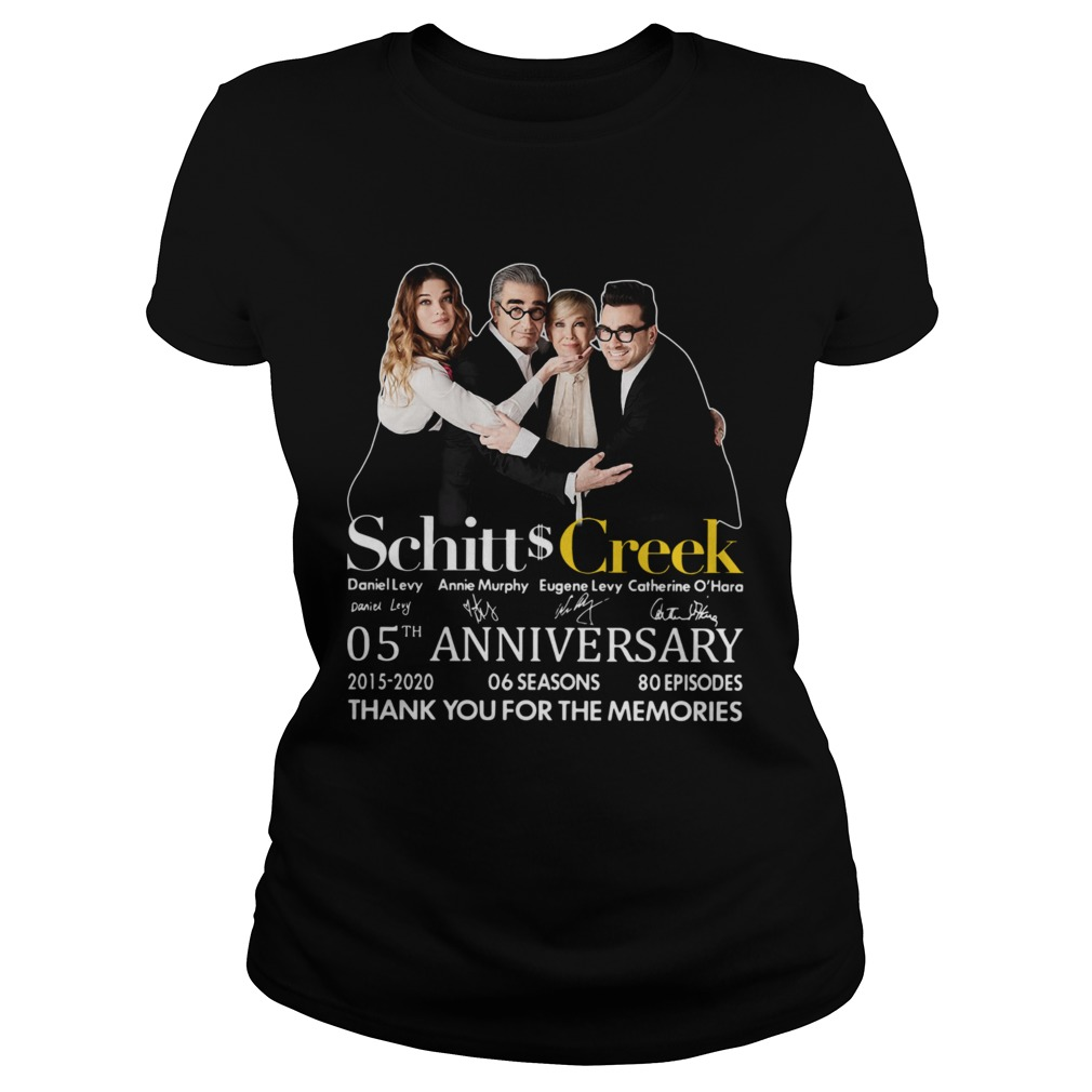 Schitt Creek 05th Anniversary Thank You For The Memories Signature  Classic Ladies