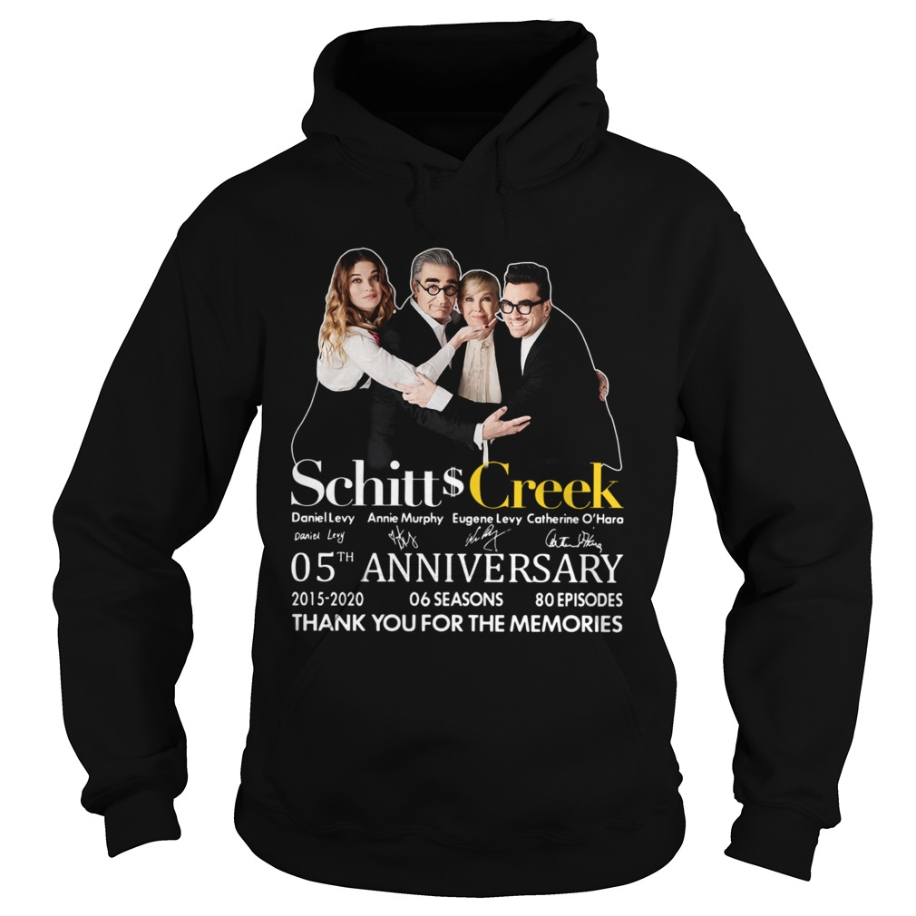 Schitt Creek 05th Anniversary Thank You For The Memories Signature  Hoodie