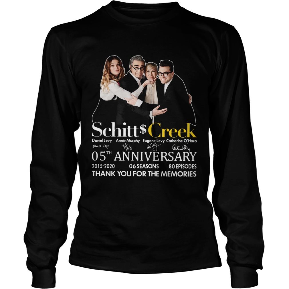 Schitt Creek 05th Anniversary Thank You For The Memories Signature  Long Sleeve