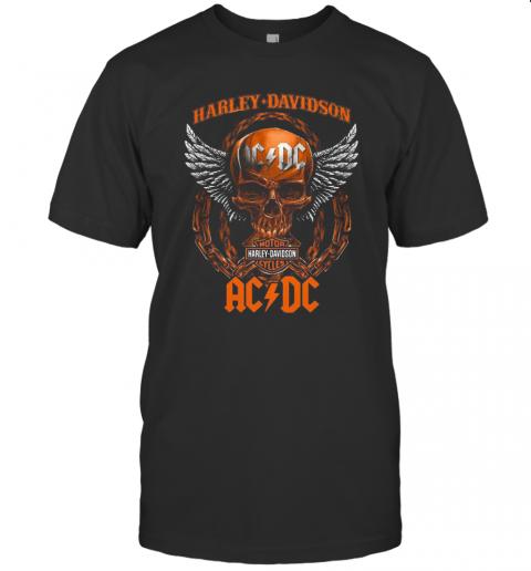 Skull Motor Harley Davidson Cycles AC DC T-Shirt Classic Men's T-shirt