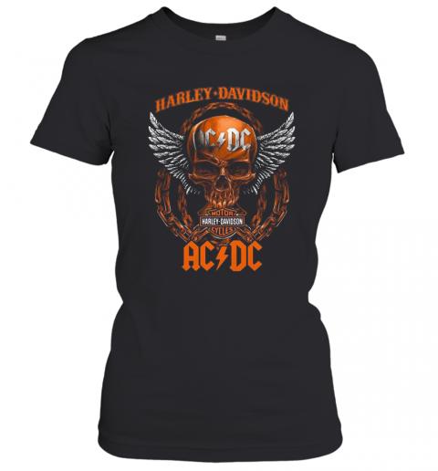 Skull Motor Harley Davidson Cycles AC DC T-Shirt Classic Women's T-shirt