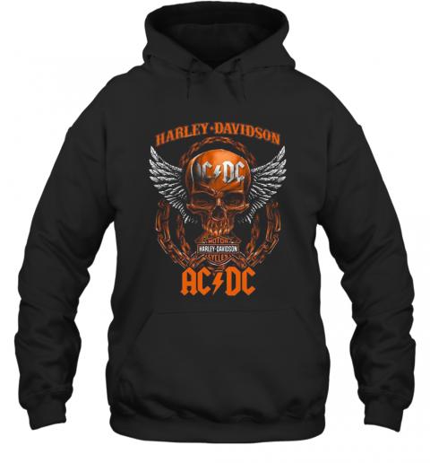 Skull Motor Harley Davidson Cycles AC DC T-Shirt Unisex Hoodie