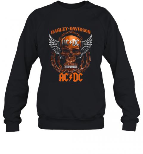 Skull Motor Harley Davidson Cycles AC DC T-Shirt Unisex Sweatshirt