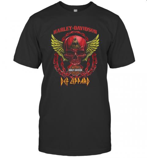 Skull Motor Harley Davidson Cycles Def Leppard T-Shirt Classic Men's T-shirt