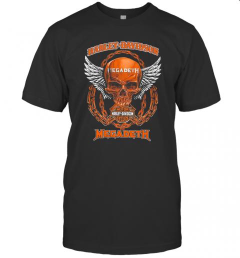 Skull Motor Harley Davidson Cycles Megadeth T-Shirt Classic Men's T-shirt