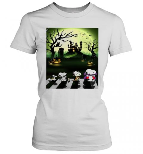 Snoopy Abbey Road Halloween Moon T-Shirt Classic Women's T-shirt