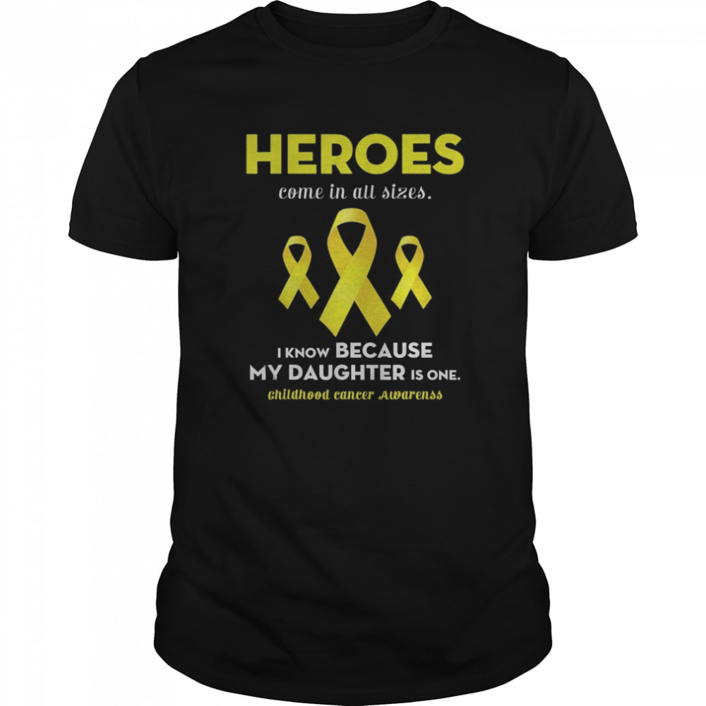 Support Childhood Cancer Awareness For My Daughter  Classic Men's T-shirt