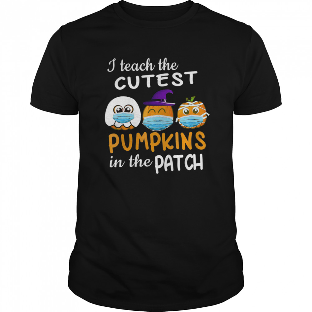 Teachers Gift Cutest Pumpkins patch Halloween Face Mask  Classic Men's T-shirt