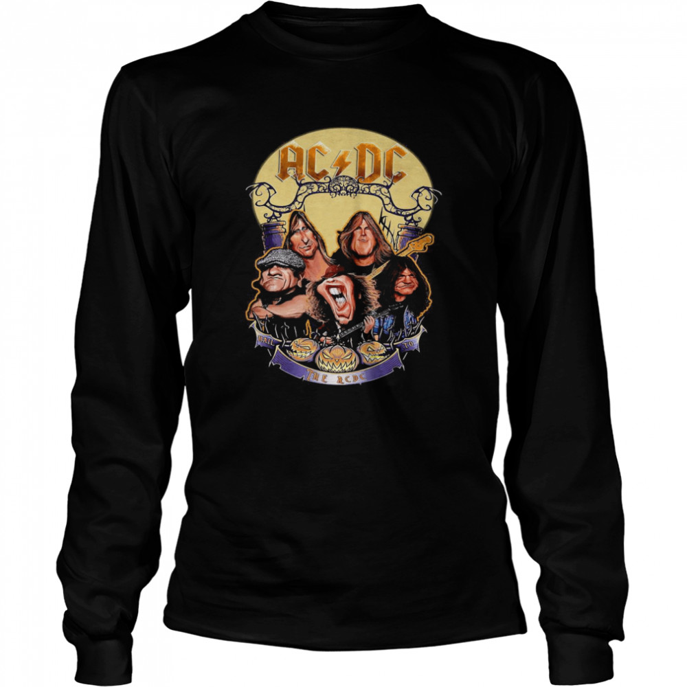 The ACDC Rock Band Comic Halloween  Long Sleeved T-shirt