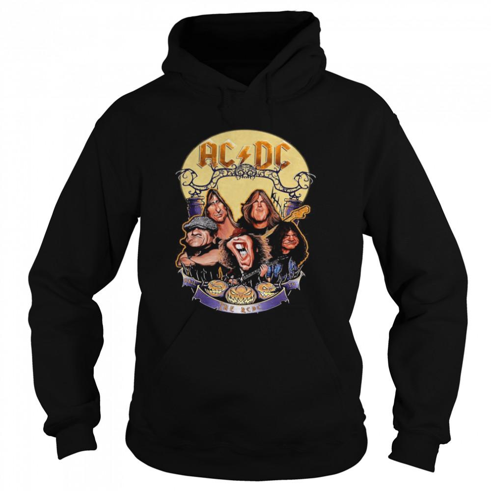 The ACDC Rock Band Comic Halloween  Unisex Hoodie