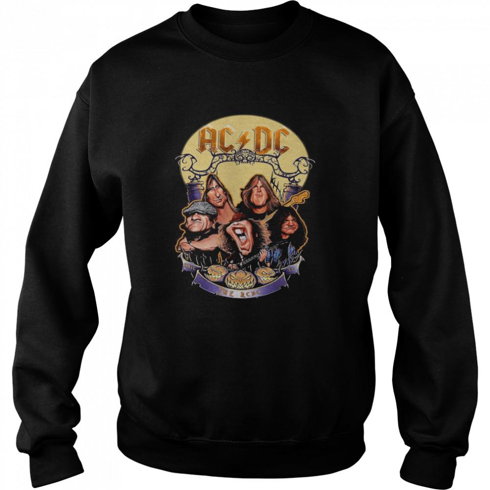 The ACDC Rock Band Comic Halloween  Unisex Sweatshirt