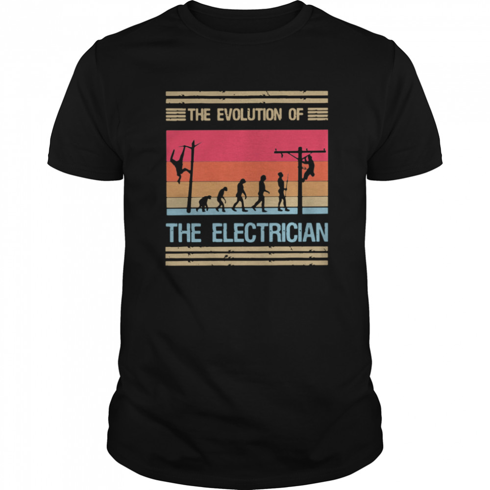 The Evolution Of The Electrician  Classic Men's T-shirt