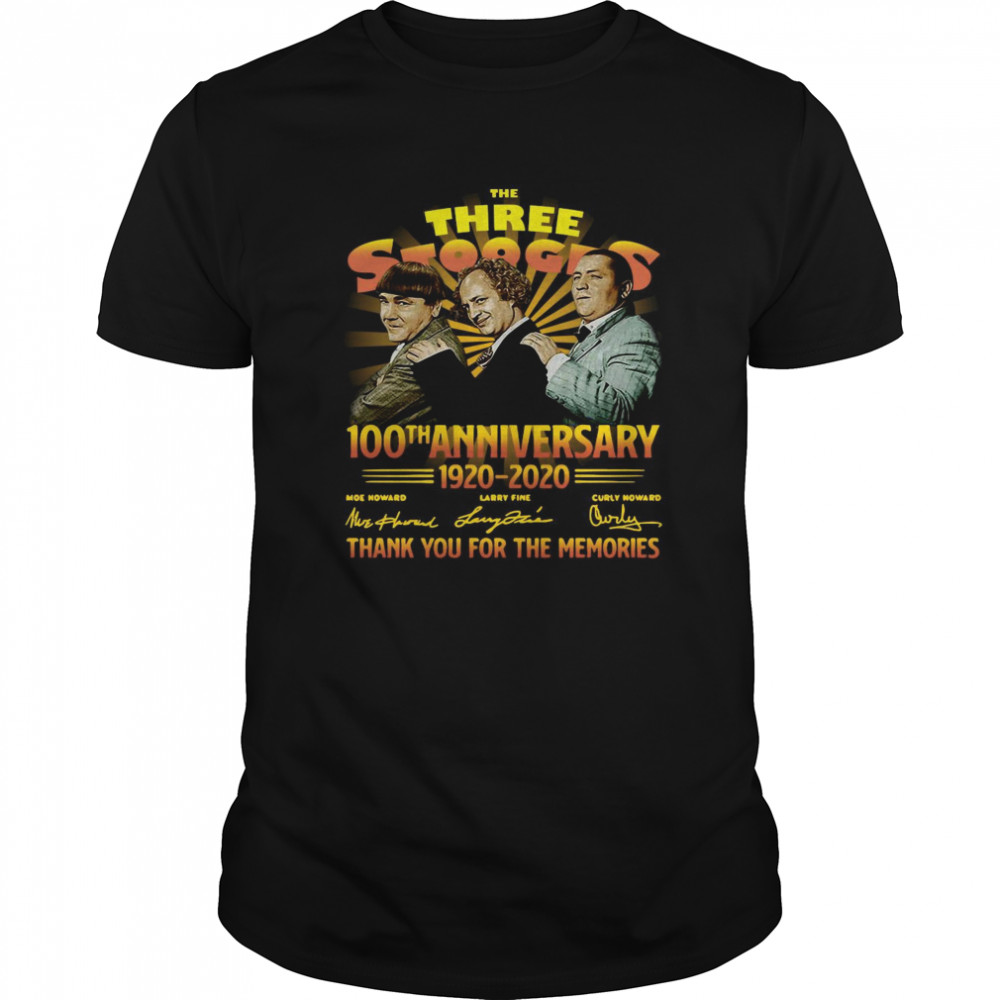 The Three Stooges 100th Anniversary 1920 2020 Signatures  Classic Men's T-shirt