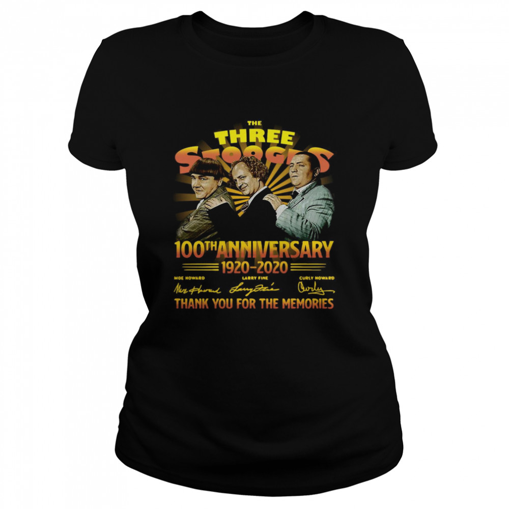 The Three Stooges 100th Anniversary 1920 2020 Signatures  Classic Women's T-shirt