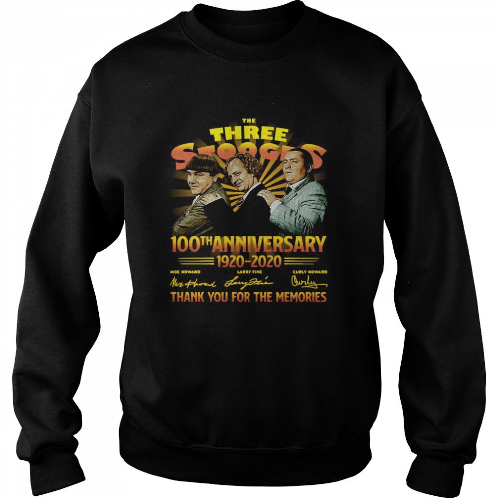 The Three Stooges 100th Anniversary 1920 2020 Signatures  Unisex Sweatshirt