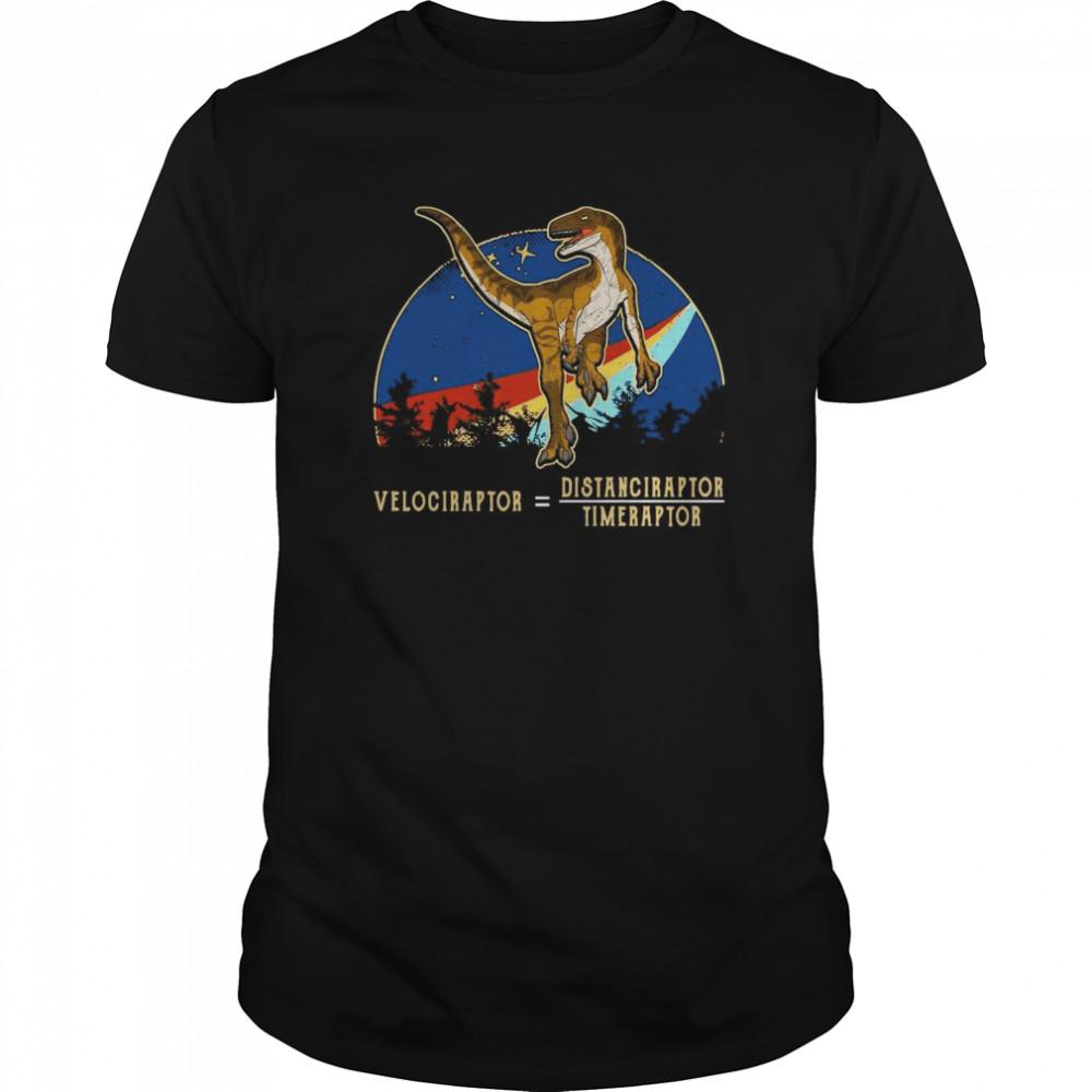 Velociraptor Distanceraptor Timeraptor Vintage  Classic Men's T-shirt