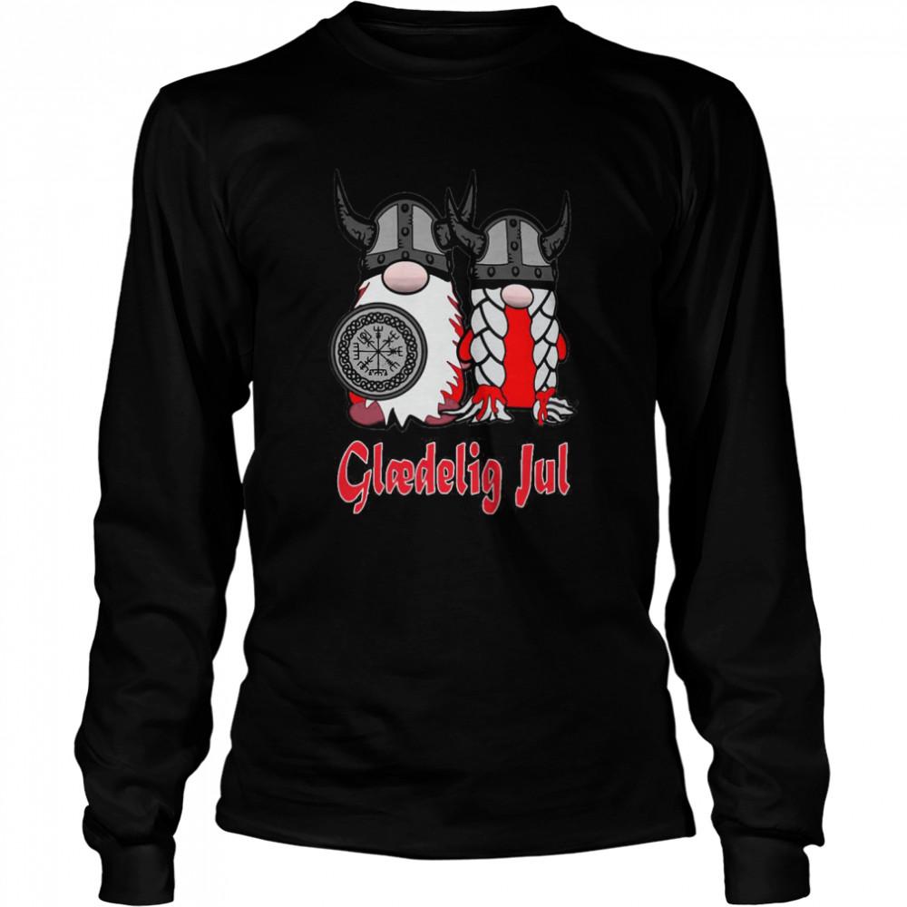 Viking Nisse Gloedelig Jul  Long Sleeved T-shirt