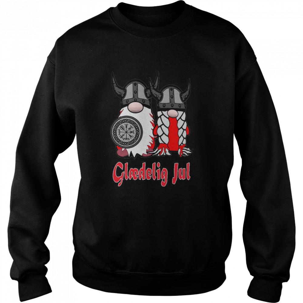 Viking Nisse Gloedelig Jul  Unisex Sweatshirt