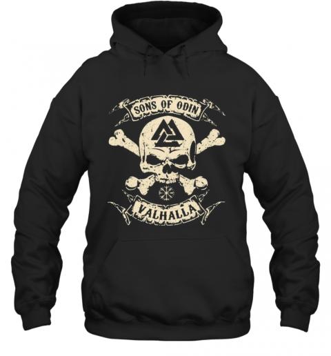 Vikings Skull Sons Of Odin Valhalla Vintage T-Shirt Unisex Hoodie
